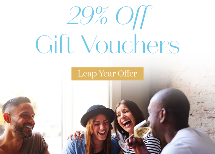 leap year 29% off gift vouchers